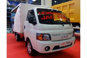 Новый грузовой автомобиль JAC N35 на выставке ComAutoTrans 2020