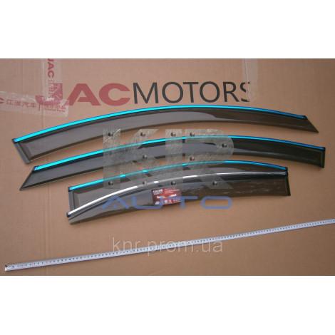 Ветровики с хром молдингом (дефлекторы) окон JAC J5
